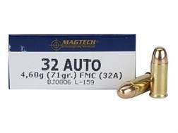 Magtech Sport Ammunition 32 ACP 71 Grain Full Metal Jacket