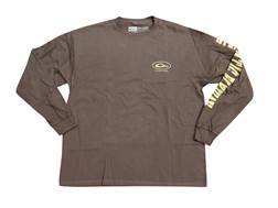 Drake Men's Atlantic Flyway Series T-Shirt Long Sleeve Cotton Brown Small