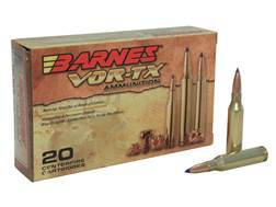 Barnes VOR-TX Ammunition 260 Remington 120 Grain Tipped Triple-Shock X Bullet Boat Tail Lead-Free Box of 20