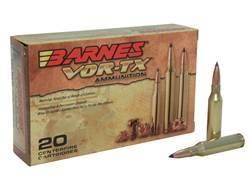 Barnes VOR-TX Ammunition 260 Remington 120 Grain Tipped Triple-Shock X Bullet Boat Tail Lead-Free Box of 20