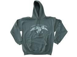 Duck Commander Men's Logo Hooded Sweatshirt Cotton Moss Medium
