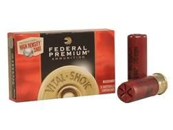 "Federal Premium Vital-Shok Ammunition 12 Gauge 2-3/4"" 00 High Density Lead-Free Buckshot 9 Pellets Flitecontrol Wad Box of 5"