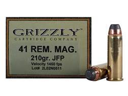 Grizzly Ammunition 41 Remington Magnum 210 Grain Jacketed Soft Point Box of 20