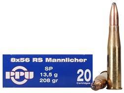 Prvi Partizan Ammunition 8x56mm Rimmed Hungarian (RS Mannlicher) 208 Grain Soft Point Box of 20