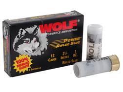 """Wolf Power Ammunition 12 Gauge 2-3/4"""" 1 oz Rifled Slug"""