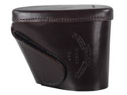 """Galco Recoil Pad Slip-On 4-13/16"""" x 1-7/16"""" x 1/2"""" Thick Leather Brown"""