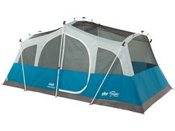 "Coleman Echo Lake Fast Pitch 8 Man Cabin Tent 192""x120""x84"" Polyester Blue and White"