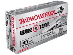 Winchester Win1911 Ammunition 45 ACP 230 Grain Full Metal Jacket