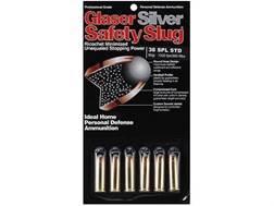 Glaser Silver Safety Slug Ammunition 38 Special 80 Grain Safety Slug Package of 6