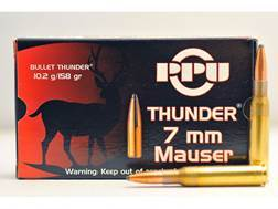 Prvi Partizan Thunder Ammunition 7x57mm Mauser (7mm Mauser) 158 Grain GROM Soft Point Box of 20