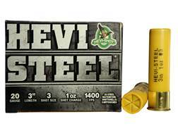 "Hevi-Shot Hevi-Steel Waterfowl Ammunition 20 Gauge 3"" 1 oz #3 Non-Toxic Shot"