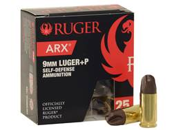 Ruger Self Defense Ammunition 9mm Luger 80 Grain PolyCase ARX