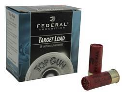 "Federal Top Gun Low Recoil Ammunition 12 Gauge 2-3/4"" 1-1/8 oz #7-1/2 Shot Subsonic Box of 25"