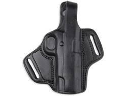 Bulldog Deluxe Molded Holster with Thumb Break Small Fits Small Frame Autos Right Handed Leather Black