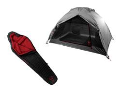 Badlands Ascent Dome Tent with Factory Second Cinder 10 Degree Long Sleeping Bag