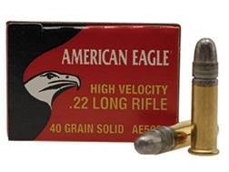 Federal American Eagle Ammunition 22 Long Rifle High Velocity 40 Grain Lead Round Nose Box of 500 (10 Boxes of 50)