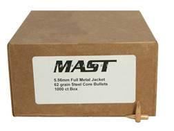 BlackGun Industries Bullets 22 Caliber (224 Diameter) 62 Grain SS109 Penetrator Full Metal Jacket Boat Tail