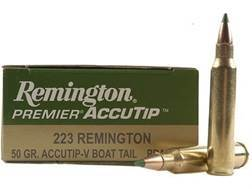 Remington Premier Varmint Ammunition 223 Remington 50 Grain AccuTip Boat Tail Box of 20