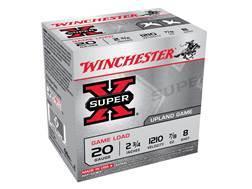 """Winchester Super-X Game Load Ammunition 20 Gauge 2-3/4"""" 7/8 oz #8 Shot"""