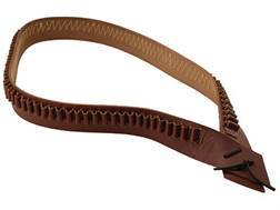 Hunter 738 Bandolero Pistol Cartridge Belt 38 Caliber 97 Loops Leather Antique Brown