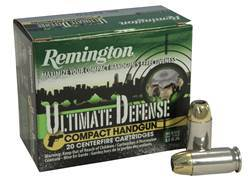 Remington Compact Handgun Defense Ammunition 45 ACP 230 Grain Brass Jacketed Hollow Point Box of 20