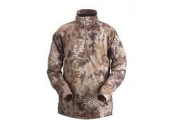 Kryptek Men's Helios Shirt 1/4 Zip Long Sleeve Polyester Highlander Camo