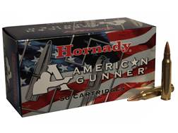 Hornady American Gunner Ammunition 223 Remington 55 Grain Hollow Point Boat Tail Box of 50