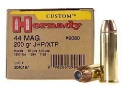 Hornady Custom Ammunition 44 Remington Magnum 200 Grain XTP Jacketed Hollow Point Box of 20