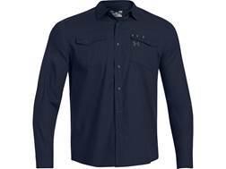 Under Armour Men's Shop Shirt Long Sleeve Cotton Cadet Medium 38-40