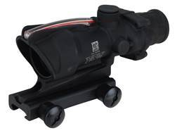 Trijicon ACOG TA31 BAC Rifle Scope 4x 32mm Dual-Illuminated Red Chevron 223 Remington Reticle with TA51 Flattop Mount Matte