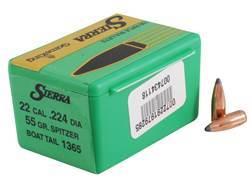 Sierra GameKing Bullets 22 Caliber (224 Diameter) 55 Grain Spitzer Boat Tail Box of 100