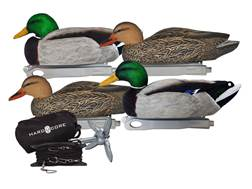 Hard Core Jerk Cord Combo Floater Duck Decoy Pack of 4