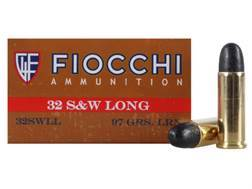 Fiocchi Cowboy Action Ammunition 32 S&W Long 97 Grain Lead Round Nose Box of 50