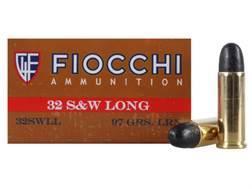 Fiocchi Cowboy Action Ammunition 32 S&W Long 97 Grain Lead Round Nose Box of 50