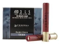 "Federal Game-Shok Hi-Brass Ammunition 410 Bore 3"" 11/16 oz #5 Shot Box of 25"
