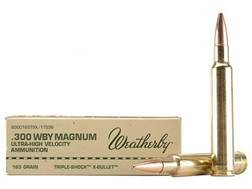 Weatherby Ammunition 300 Weatherby Magnum 165 Grain Barnes Triple-Shock X Bullet Hollow Point Lead-Free Box of 20