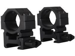 """Leapers UTG 1"""" Max Strength Tactical 4-Hole Quick Detachable Twist Lock Picatinny-Style Rings Matte Medium"""