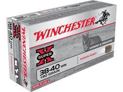 Winchester Super-X Ammunition 38-40 WCF 180 Grain Soft Point