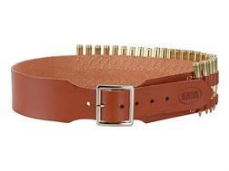 "Hunter Cartridge Belt 2-1/2"" 30-06 Springfield Base Cartridges 25 Loops Leather Brown Medium"