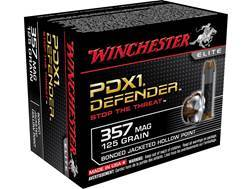 Winchester Supreme Elite Self Defense Ammunition 357 Magnum 125 Grain PDX1 Jacketed Hollow Point