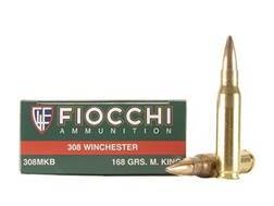 Fiocchi Exacta Ammunition 308 Winchester 168 Grain Sierra MatchKing Hollow Point