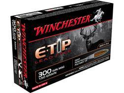 Winchester Ammunition 300 Winchester Magnum 150 Grain E-Tip Lead-Free Case of 200 (10 Boxes of 20)