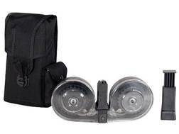 Beta Magazine System AR-15 9mm Luger 100-Round Drum Polymer Black with Clear Back Cover