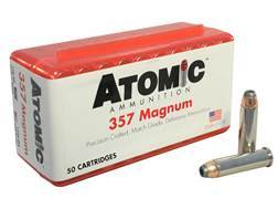 Atomic Ammunition 357 Magnum 158 Grain Nosler Jacketed Hollow Point Box of 50