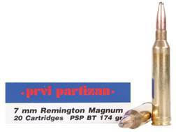 Prvi Partizan Ammunition 7mm Remington Magnum 174 Grain Pointed Soft Point Box of 20