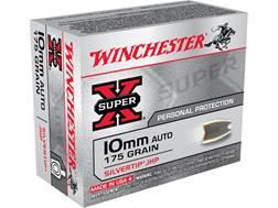 Winchester Super-X Ammunition 10mm Auto 175 Grain Silvertip Hollow Point