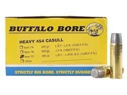 Buffalo Bore Ammunition 454 Casull 360 Grain Lead Long Wide Nose