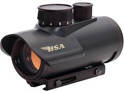 BSA Red Dot Sight 42mm Tube 1x 5 MOA Dot with Integral Weaver-Style Mount Matte
