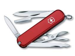 Victorinox Swiss Army Executive Folding Pocket Knife 10 Function Stainless Steel Blade Polymer Handle Red
