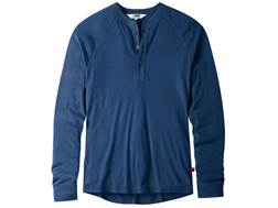 Mountain Khakis Men's Rendezvous Henley Shirt Long Sleeve Merino Wool Clear Blue XXL 49-51